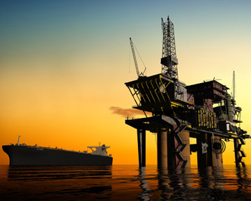 This image depicts an oil rig like one of the many rigs along the Gulf Coast of Louisiana, Florida, Alabama, Mississippi, and Texas. Unfortunately, many oil rig workers are injured or killed every year. Contact a Kenner Personal Injury Lawyer or Kenner Wrongful Death Lawyer today to discuss your rights.
